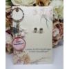 Kép 1/2 - Leszel a koszorúslányom kulcstartó fülbevaló szett kísérőkártyával