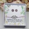 Kép 1/3 - Barátság fülbevaló karkötő szett díszdobozban