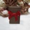 Kép 1/2 - Masni díszes ajándékdoboz karkötőknek 8x5 cm barna