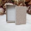 Kép 2/2 - Csillámos ajándékdoboz karkötőknek 8 x 5 cm rose gold