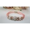 Kép 1/2 - Shamballa köves karkötő rózsaszín