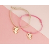 Kép 2/2 - Levél medálos karkötő rózsaszín