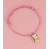 Kép 1/2 - Levél medálos karkötő rózsaszín
