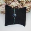 Kép 1/2 - Csillámos medálos rozsdamentes acél zsinór karkötő