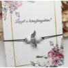 Kép 2/4 - Keresztanya felkérő ásvány angyal medálos karkötő kísérőkártyával
