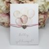 Kép 1/2 - Strasszos szív medálos karkötő születésnapi kísérőkártyával