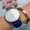 Kép 1/7 - Classy elegáns műbőr szíjas női karóra kék