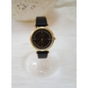 Kép 1/4 - Strasszköves díszítésű műbőr szíjas női óra fekete