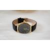 Kép 3/4 - Strasszköves díszítésű műbőr szíjas női óra fekete