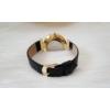 Kép 4/4 - Strasszköves díszítésű műbőr szíjas női óra fekete