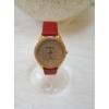 Kép 1/4 - Strasszköves díszítésű műbőr szíjas női karóra piros