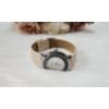 Kép 3/4 - Stars műbőr szíjas női karóra strasszkövekkel bézs
