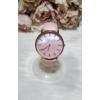 Kép 1/5 - Elegáns műbőr szíjas női karóra rózsaszín