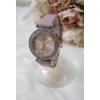 Kép 2/5 - Strasszköves díszítésű elegáns női óra lila