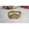 Kép 3/4 - Fémszíjas karóra, strasszokkal díszítve arany