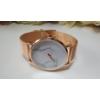 Kép 2/4 - Classy márvány mintás fém szíjas rose gold színű karóra