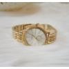 Kép 2/3 - Strasszköves fém szíjas női karóra arany szín