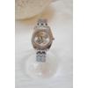 Kép 1/3 - Pillangó mintás fém szíjas női karóra ezüst szín