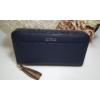 Kép 1/8 - Just for you egyszínű sötétkék női pénztárca bojt dísszel