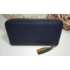 Kép 7/8 - Just for you egyszínű sötétkék női pénztárca bojt dísszel