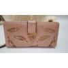 Kép 1/5 - Levél mintás nagy méretű női pénztárca rózsaszín