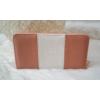 Kép 1/3 - Rózsaszín fehér csíkos női pénztárca