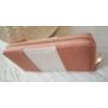 Kép 2/3 - Rózsaszín fehér csíkos női pénztárca