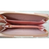 Kép 3/3 - Rózsaszín fehér csíkos női pénztárca