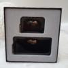 Kép 2/7 - Lakk fekete 2 db-os pénztárca ajándékszett díszdobozban