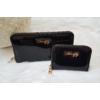 Kép 3/7 - Lakk fekete 2 db-os pénztárca ajándékszett díszdobozban