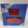 Kép 1/7 - Lakk piros 2 db-os pénztárca ajándékszett díszdobozban