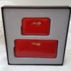 Kép 2/7 - Lakk piros 2 db-os pénztárca ajándékszett díszdobozban