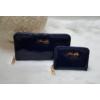 Kép 3/7 - Lakk sötétkék 2 db-os pénztárca ajándékszett díszdobozban