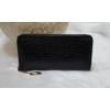 Kép 1/4 - Kígyóbőr mintás női pénztárca fekete