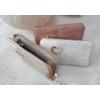 Kép 5/5 - Csipke virág mintás női pénztárca szivecske dísszel fehér