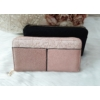 Kép 5/5 - Csipke virág mintás egyszínű női pénztárca rózsaszín