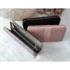 Kép 5/5 - Csíkos mintás egyszínű női pénztárca rózsaszín