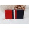 Kép 1/4 - Kék fehér piros csíkos női pénztárca