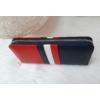Kép 2/4 - Kék fehér piros csíkos női pénztárca