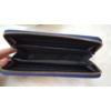 Kép 4/4 - Csipke virág mintás női pénztárca sötétkék