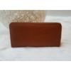 Kép 1/3 - Egyszínű női pénztárca barna