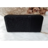 Kép 4/6 - Csipke virág mintás női pénztárca szivecske dísszel fekete