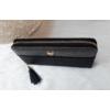 Kép 2/5 - Róka díszes egyszínű női pénztárca fekete