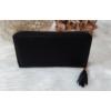 Kép 3/5 - Róka díszes egyszínű női pénztárca fekete