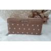 Kép 1/5 - Pöttyös mintás női pénztárca barna