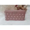 Kép 1/6 - Pöttyös mintás vastag nagy méretű pénztárca rózsaszín