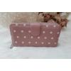 Kép 3/6 - Pöttyös mintás vastag nagy méretű pénztárca rózsaszín