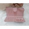 Kép 4/6 - Pöttyös mintás vastag nagy méretű pénztárca rózsaszín