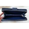 Kép 5/6 - Pöttyös mintás vastag nagy méretű pénztárca sötétkék