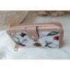 Kép 2/6 - Virág mintás elegáns női pénztárca rózsaszín